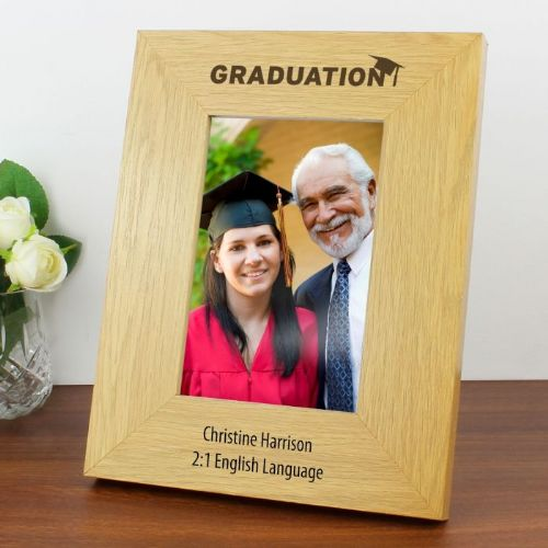 6x4 Graduation Wooden Photo Frame
